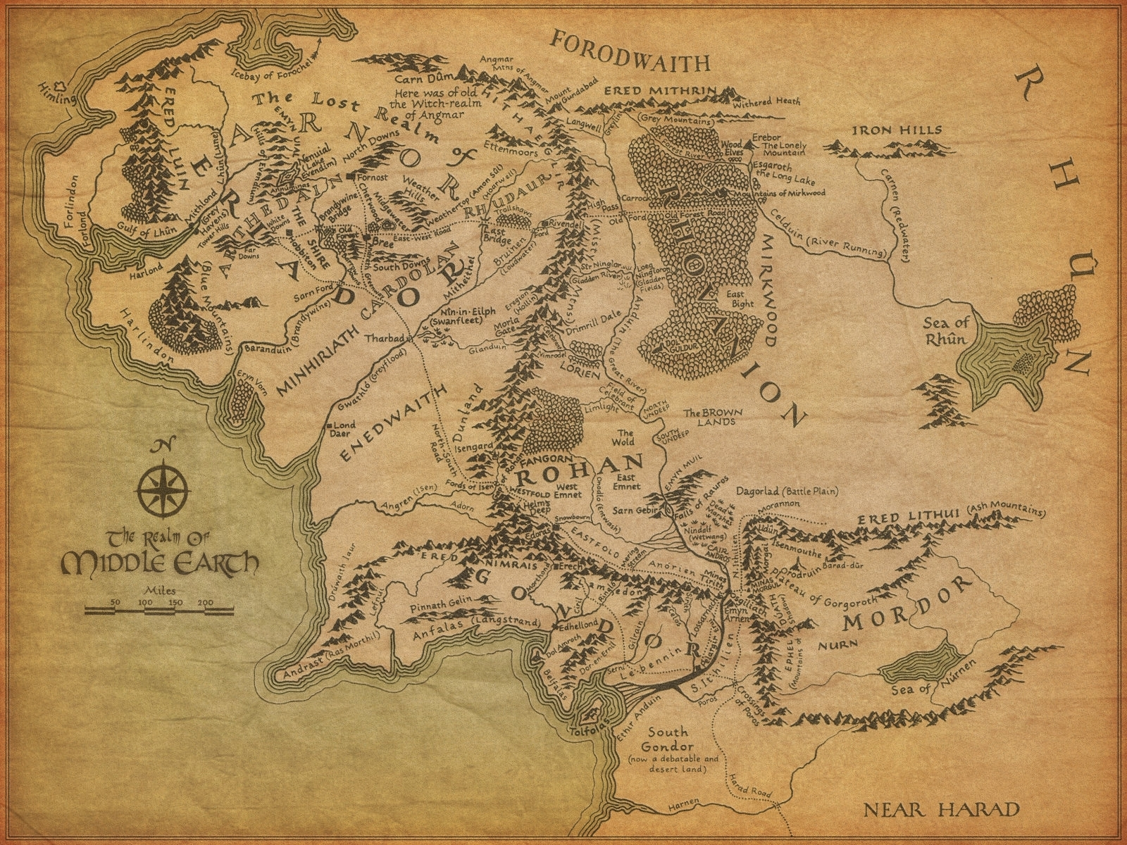 map of middle-earthjonothing #lotr #tolkien #hobbit #thranduil