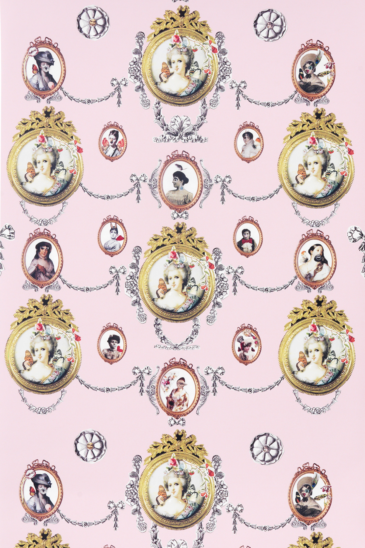 marie antoinette wallpaper | pink | monument interiors