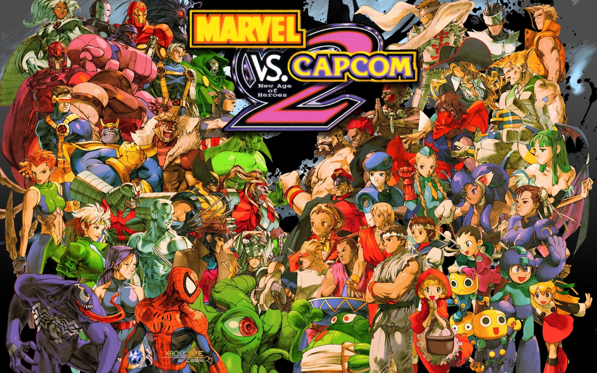 marvel vs. capcom 2 full hd wallpaper and background image