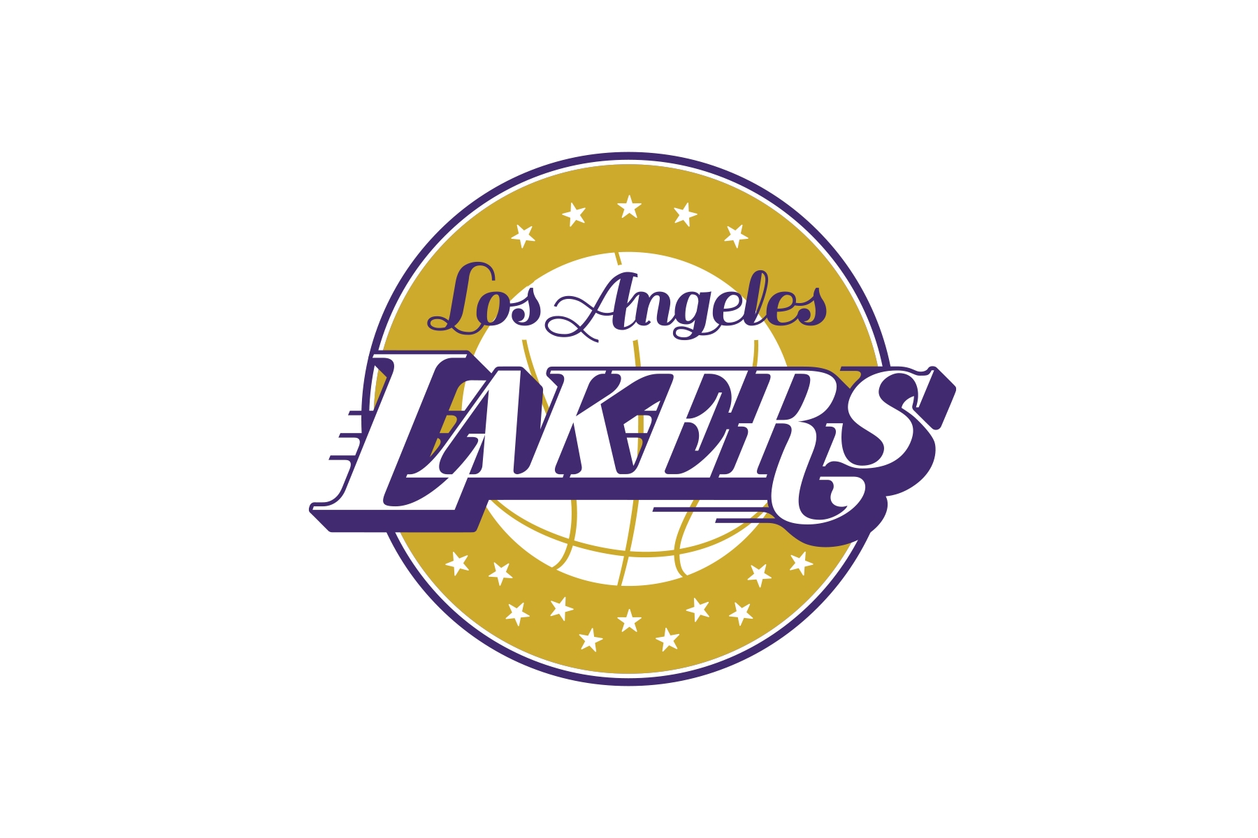 michael weinstein nba logo redesigns: los angeles lakers