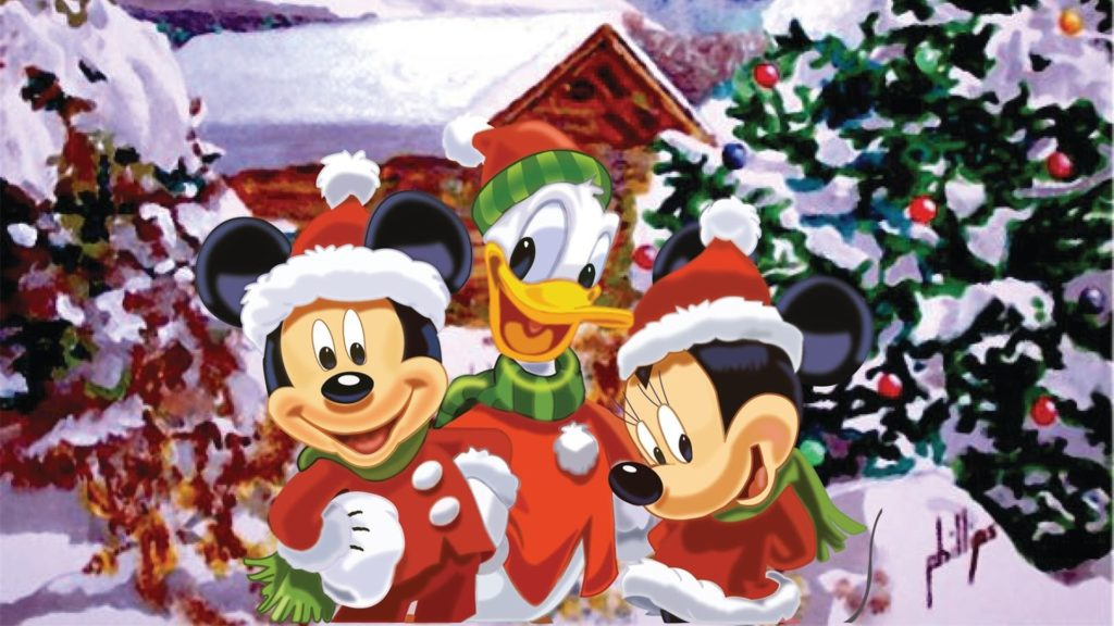 10 Best Mickey Mouse Christmas Wallpapers FULL HD 1080p For PC Background 2018 free download mickey mouse characters christmas wallpaper wallpaper wiki 1024x576