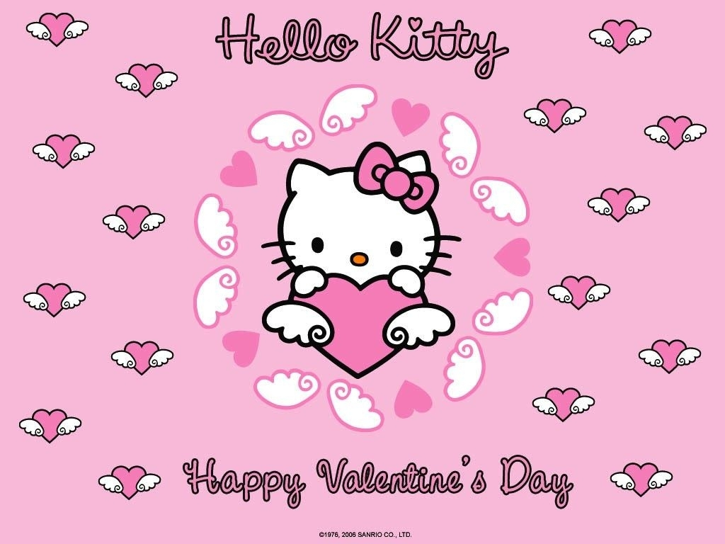mimmy and hello kitty: wallpaper hello kitty valentine's day