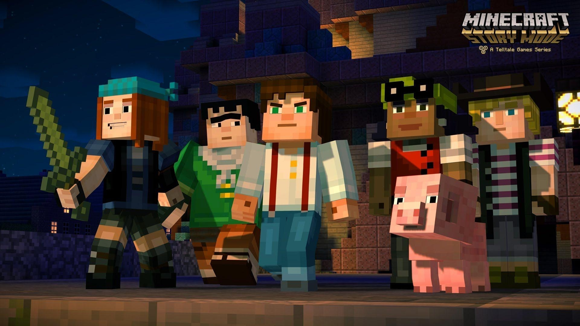 minecraft: story mode wallpapers - wallpaper cave