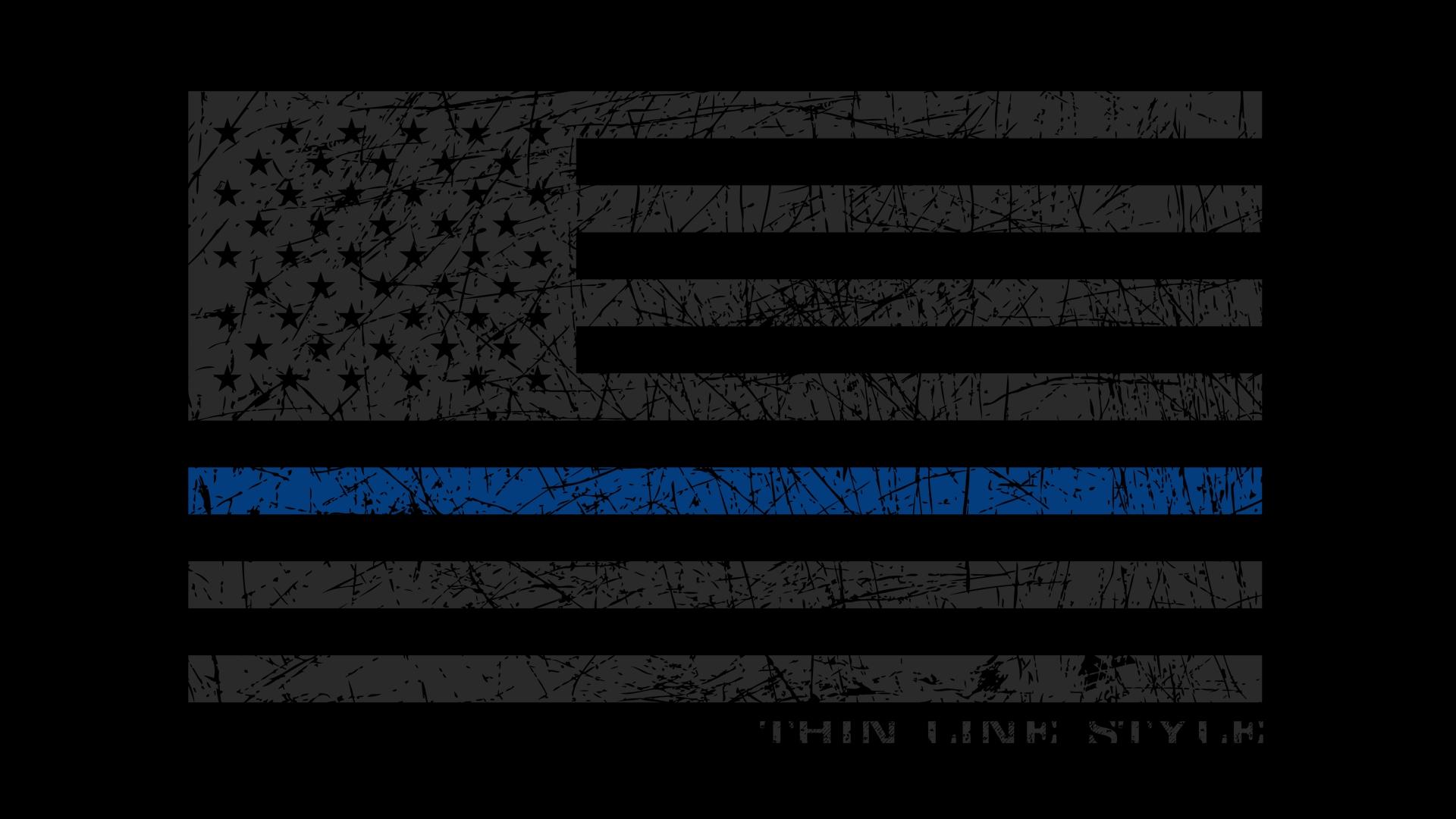 10 Best Thin Blue Line Flag Desktop Wallpaper FULL HD ...