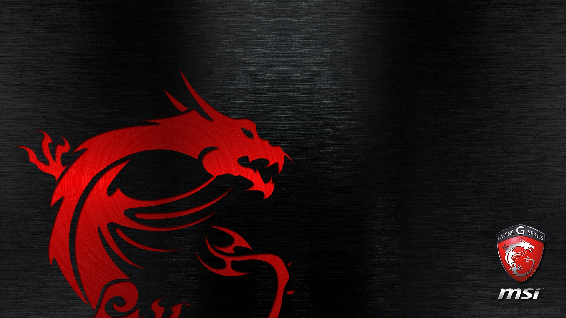 msi gaming wallpaper - red dragon emobossed (1920×1080) | msi