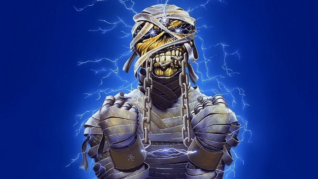music monsters mummy iron maiden eddie wallpaper | 1920x1080