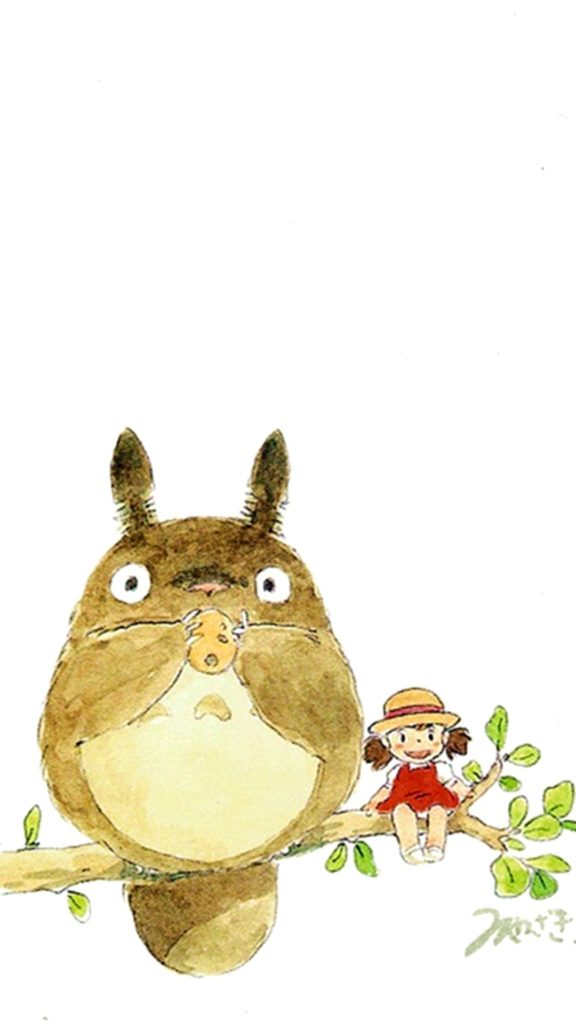 10 Top My Neighbor Totoro Iphone Wallpaper FULL HD 1080p For PC Background 2018 free download my neighbor totoro cute girl branch art drawn iphone 6 plus 1 576x1024