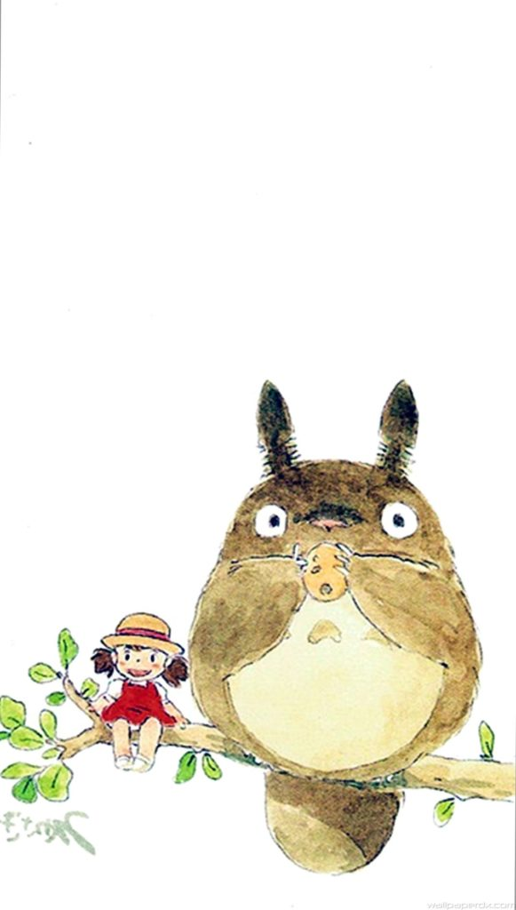 10 Top My Neighbor Totoro Iphone Wallpaper FULL HD 1080p For PC Background 2018 free download my neighbor totoro cute girl branch art drawn iphone 6 plus 581x1024