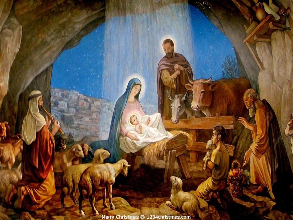nativity scene wallpaper for free download | christian wallpaper