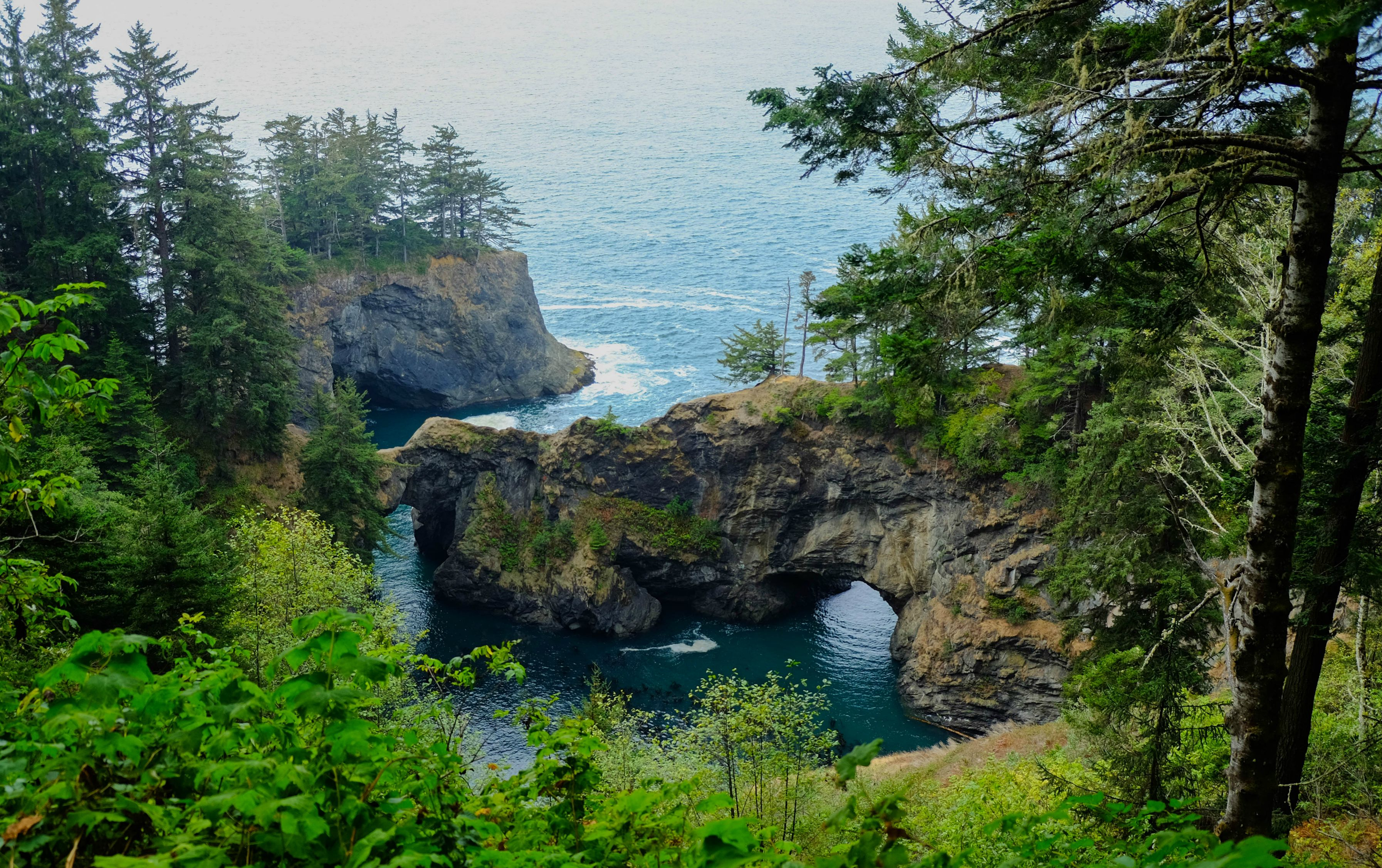 natural bridges, oregon coast, us [oc] [3587x2253] : earthporn