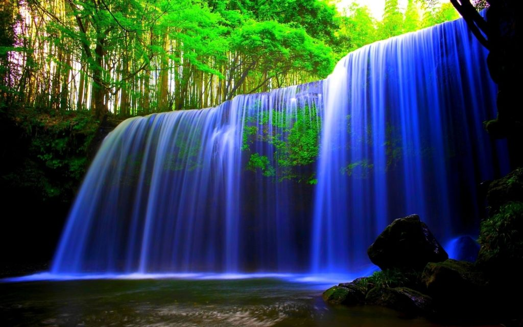 10 Most Popular Water Fall Wallpaper Hd For Desktop Free Download FULL HD 1920×1080 For PC Background 2018 free download nature blue waterfall 1024x640