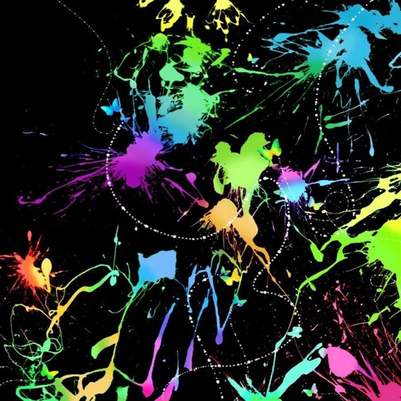 10 Latest Neon Paint Splatter Background FULL HD 1080p For PC Background 2018 free download neon paint splatters summer lights pinterest neon painting 800x800
