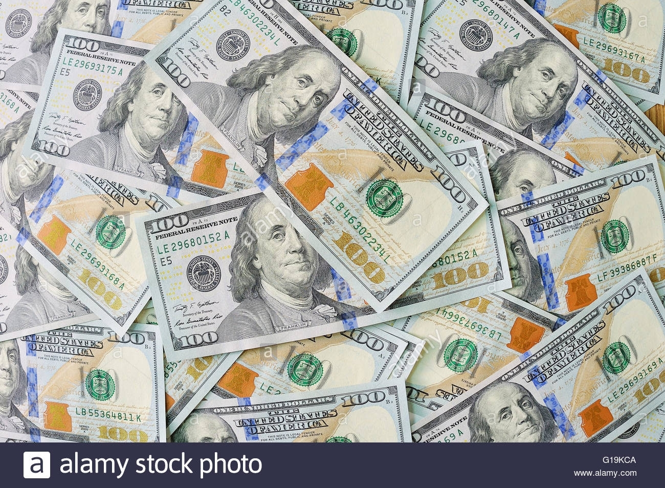 new 100 dollar bill background stock photo: 104089674 - alamy