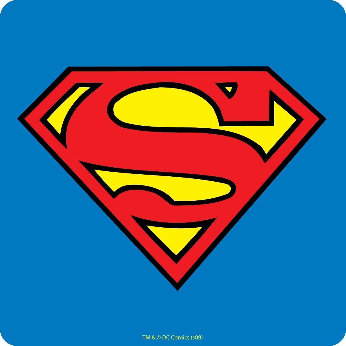 new superman logo coaster retro drinks mat dc comics smallville