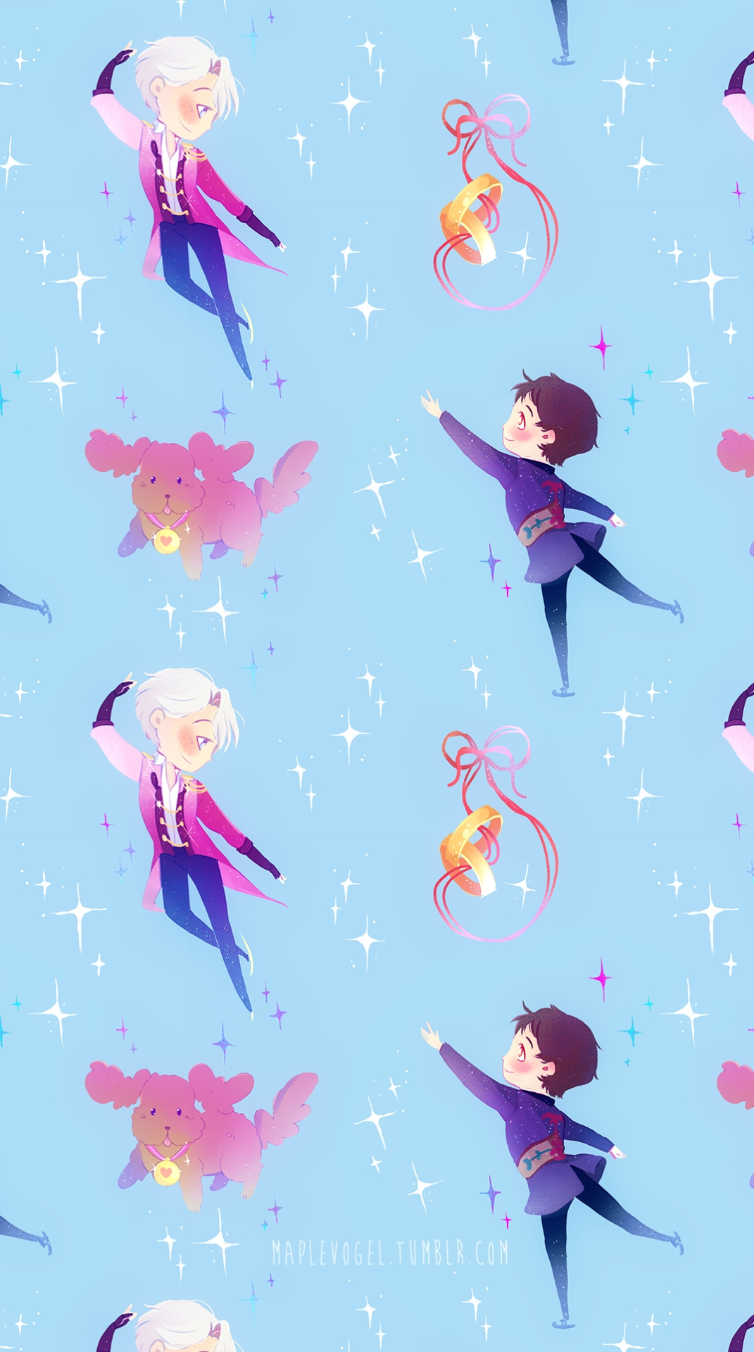 new version of my earlier victuuri patterns after some people asked