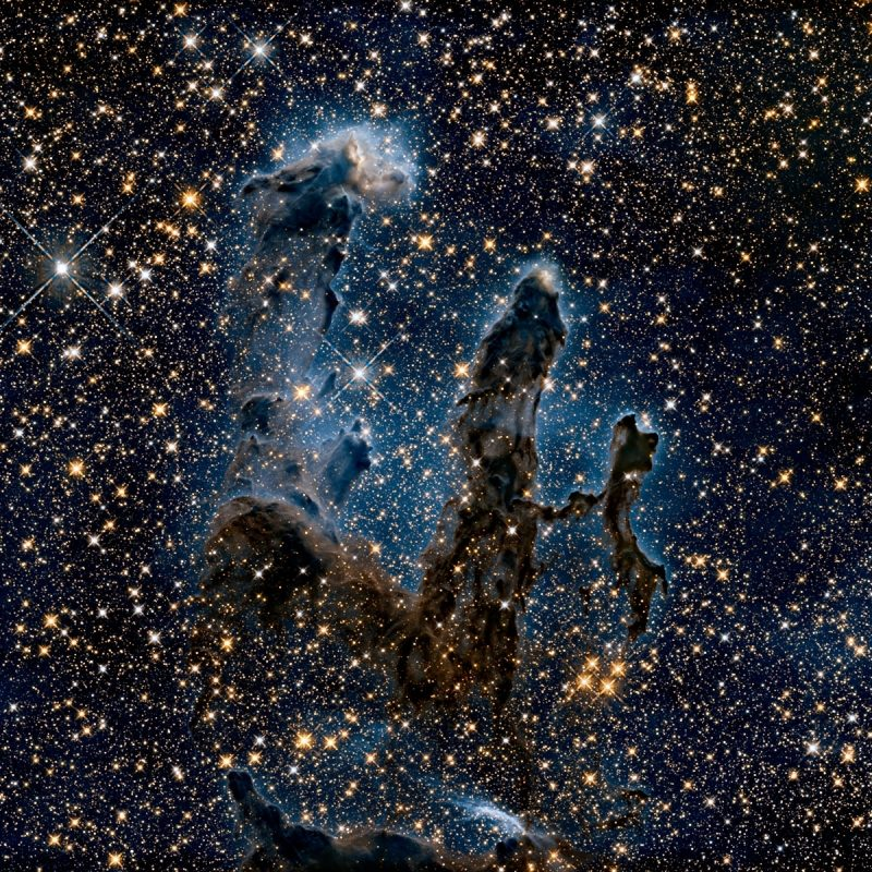 10 New The Pillars Of Creation Wallpaper FULL HD 1080p For PC Desktop 2018 free download new view of the pillars of creation infrared esa hubble 800x800