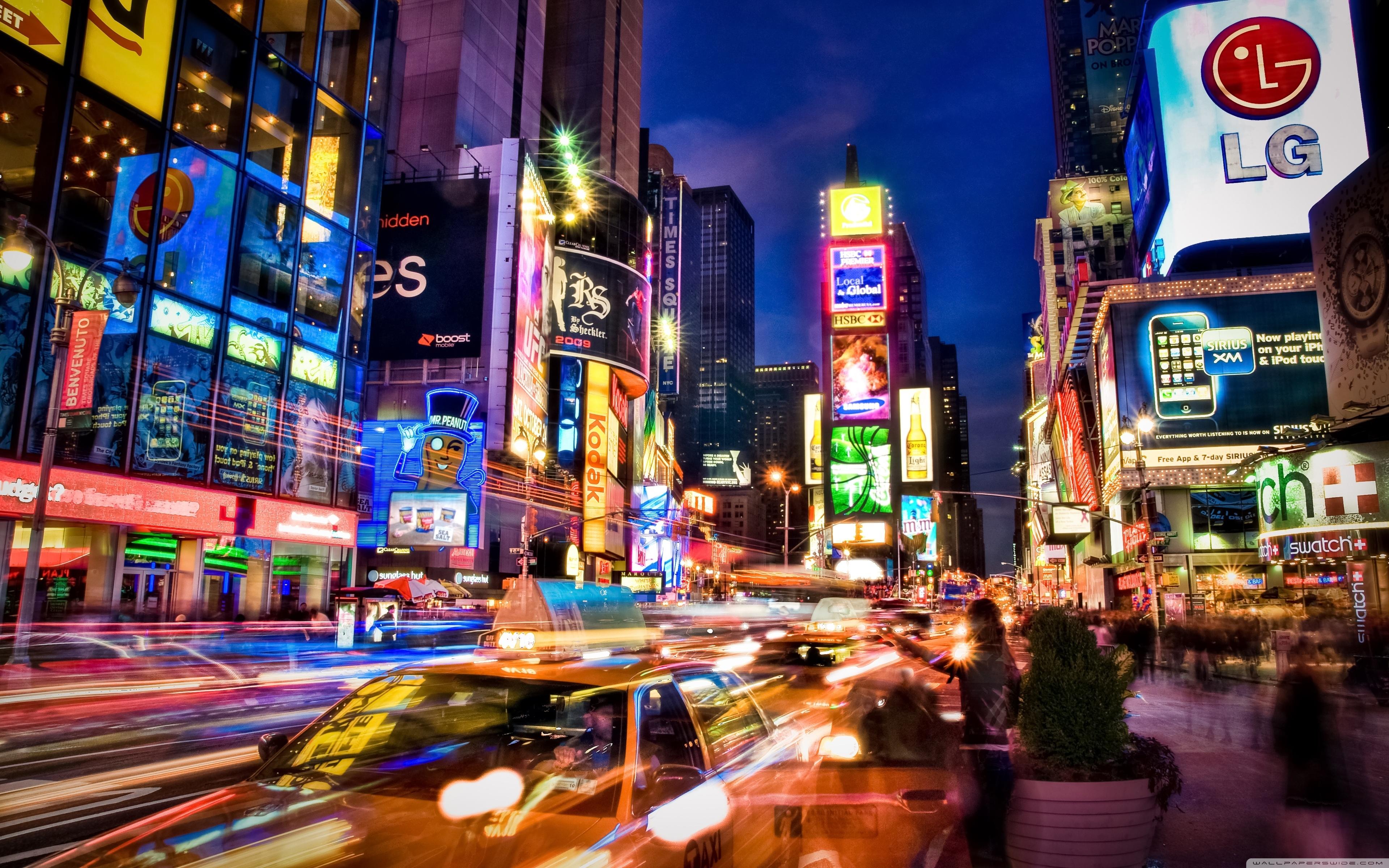 new york city at night ❤ 4k hd desktop wallpaper for 4k ultra hd tv