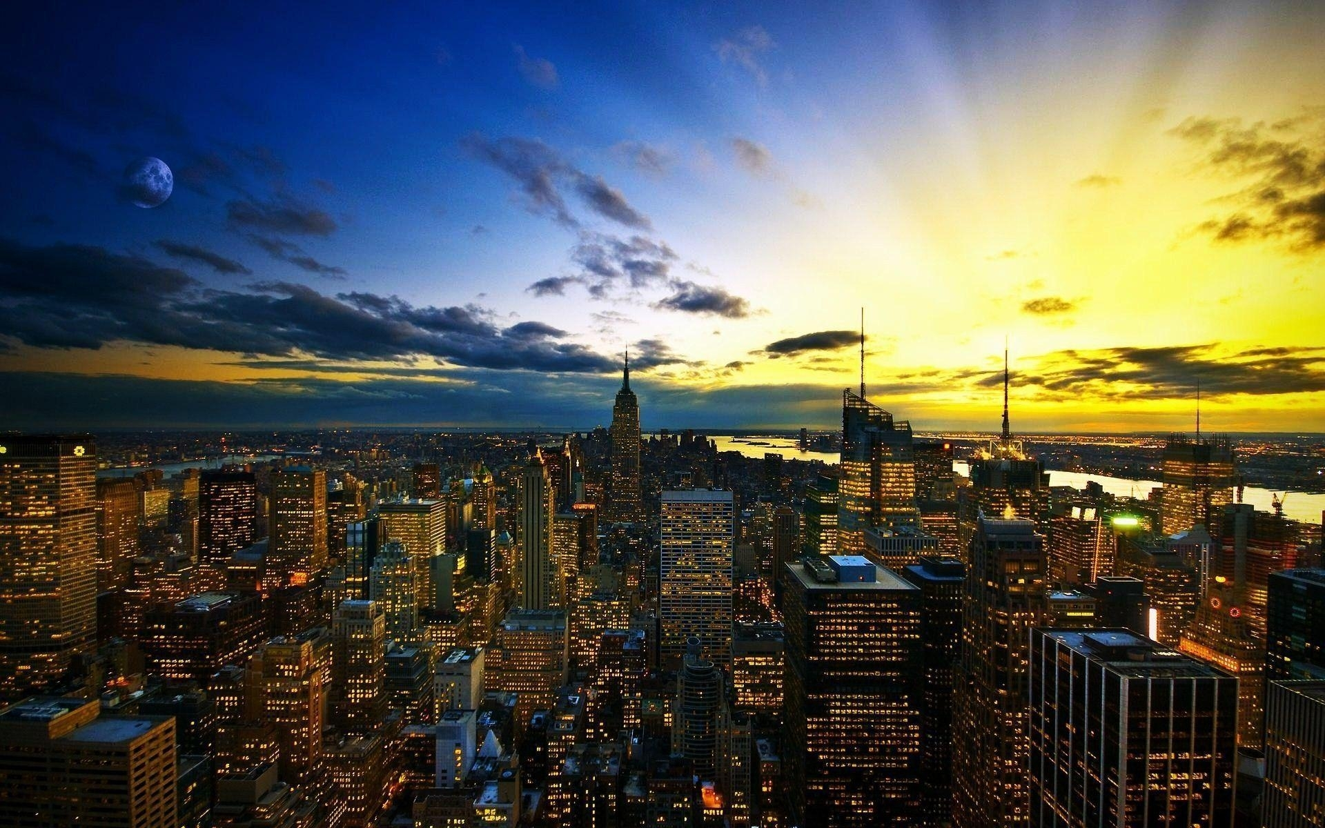 10 Latest City Skyline Desktop Wallpaper FULL HD 1920×1080 For PC Desktop