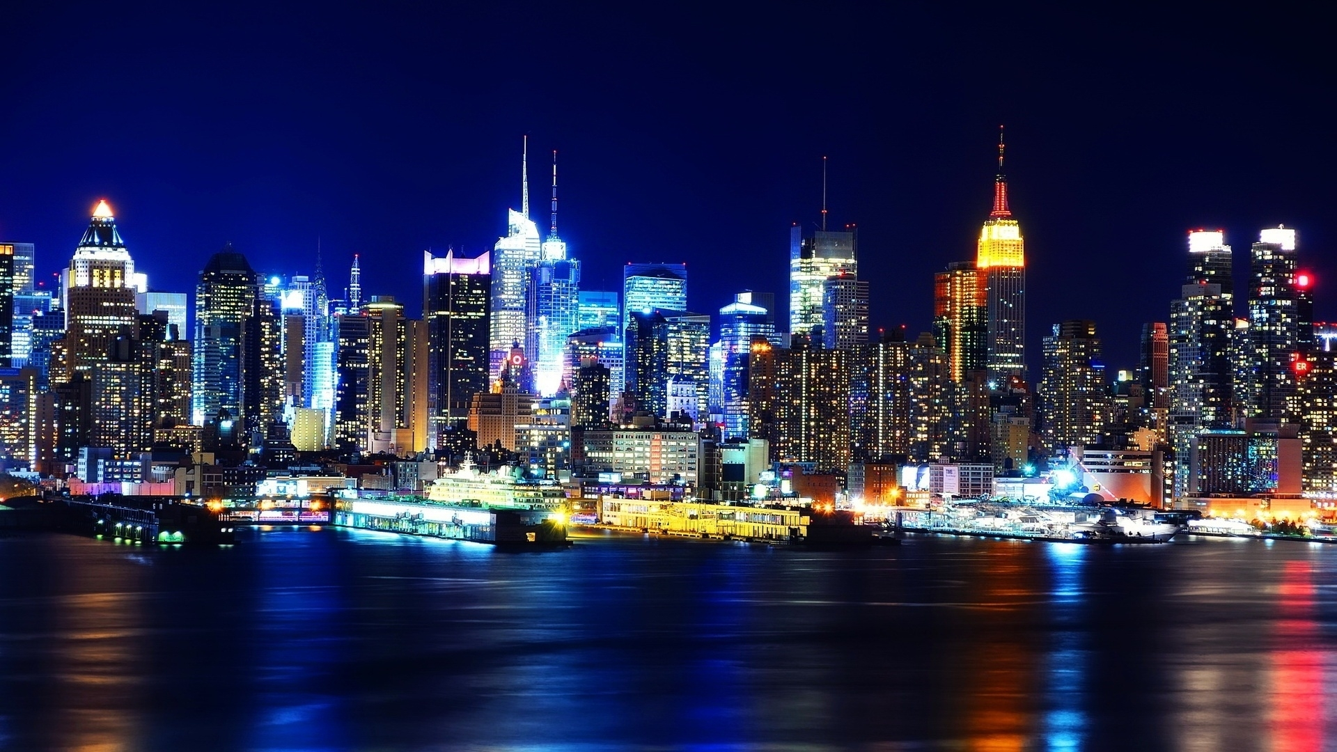 10 Latest New York Night Wallpaper Hd FULL HD 1920×1080 For PC Background