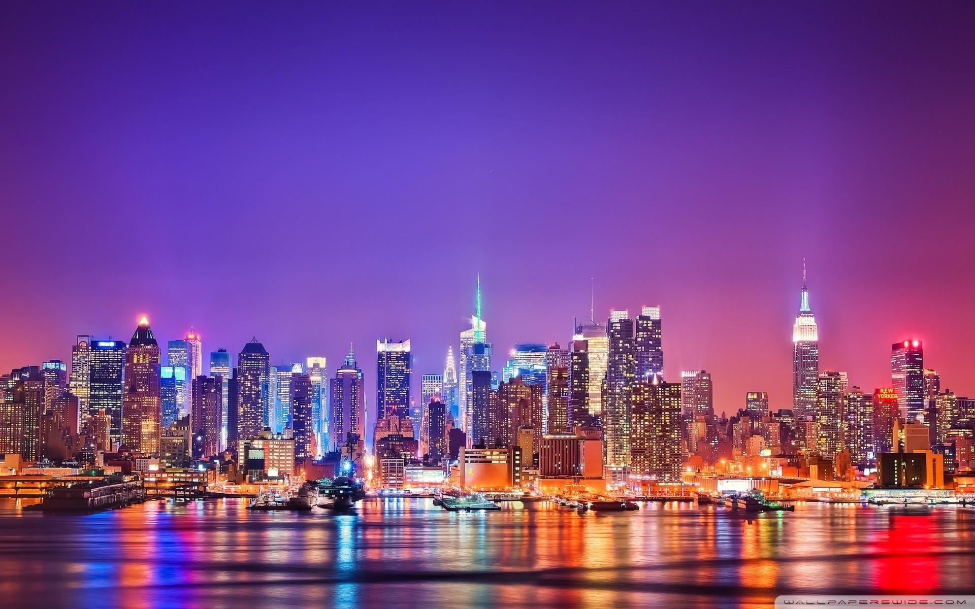 new york city skyline at night ❤ 4k hd desktop wallpaper for 4k