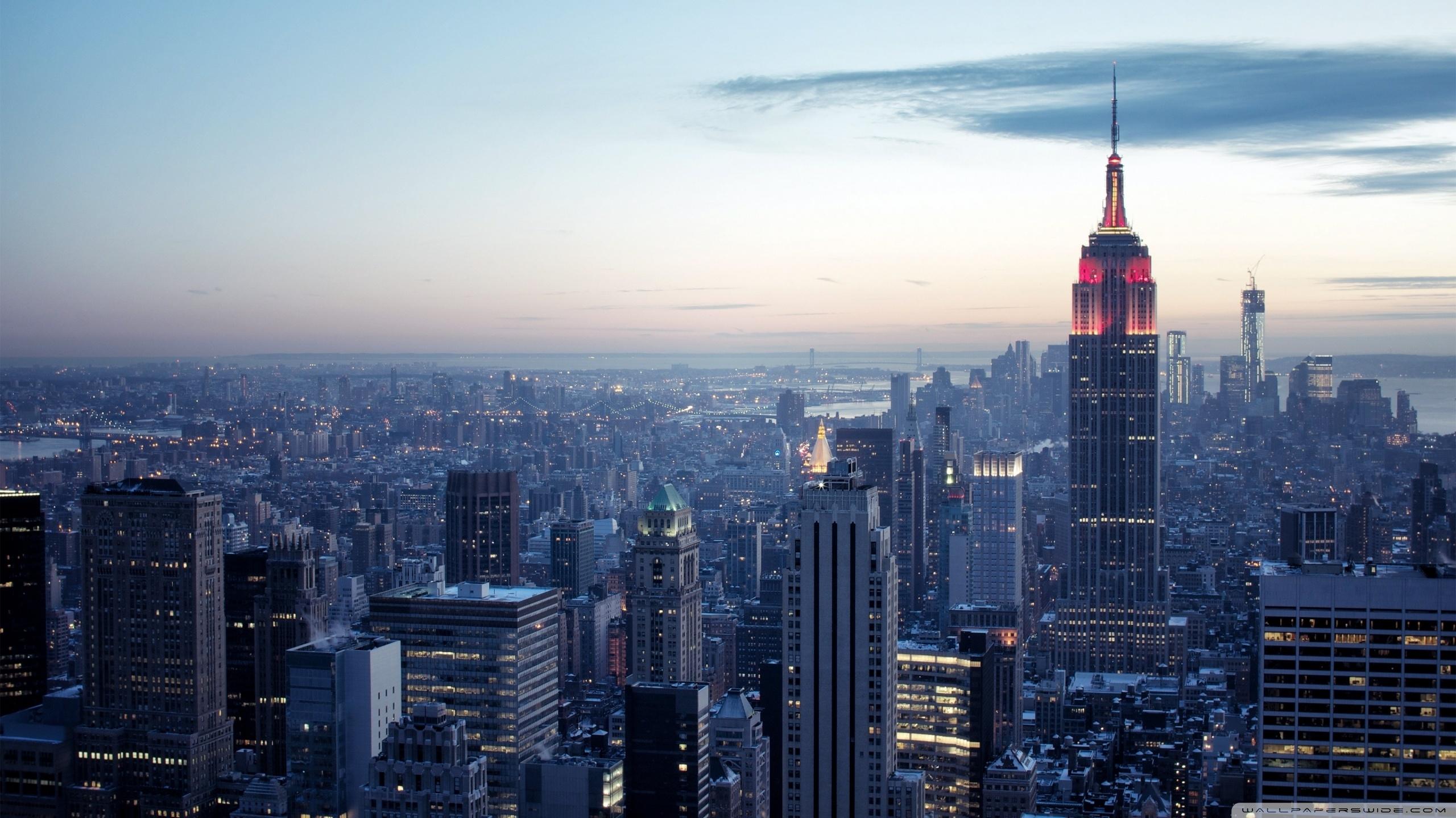new york city winter sunset ❤ 4k hd desktop wallpaper for 4k ultra