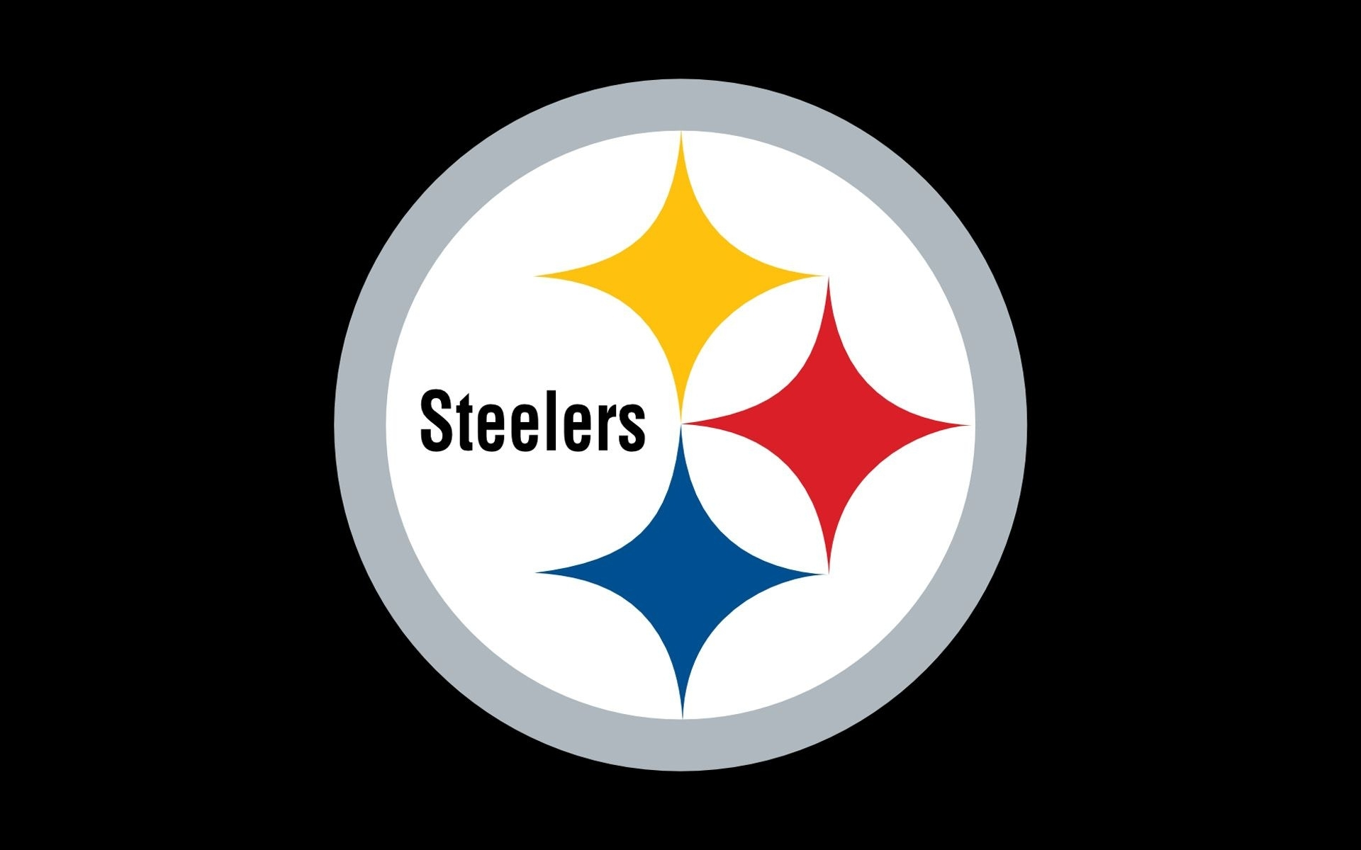 nfl steelers wallpaper | nfl pittsburgh steelers logo on black