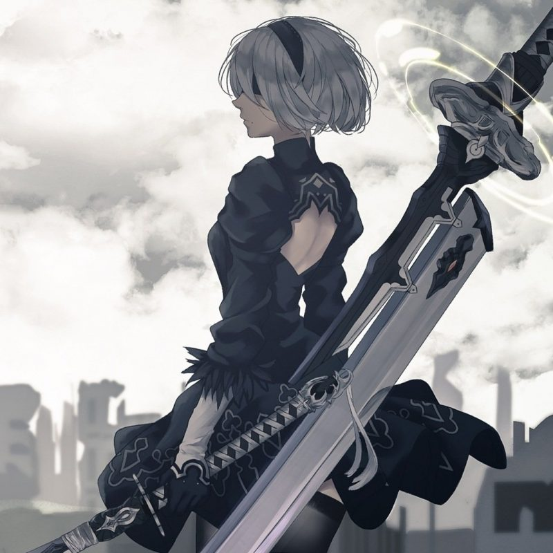10 Top Nier Automata Wallpaper 2B FULL HD 1080p For PC Desktop 2018 free download nier automata full hd fond decran and arriere plan 1920x1080 1 800x800
