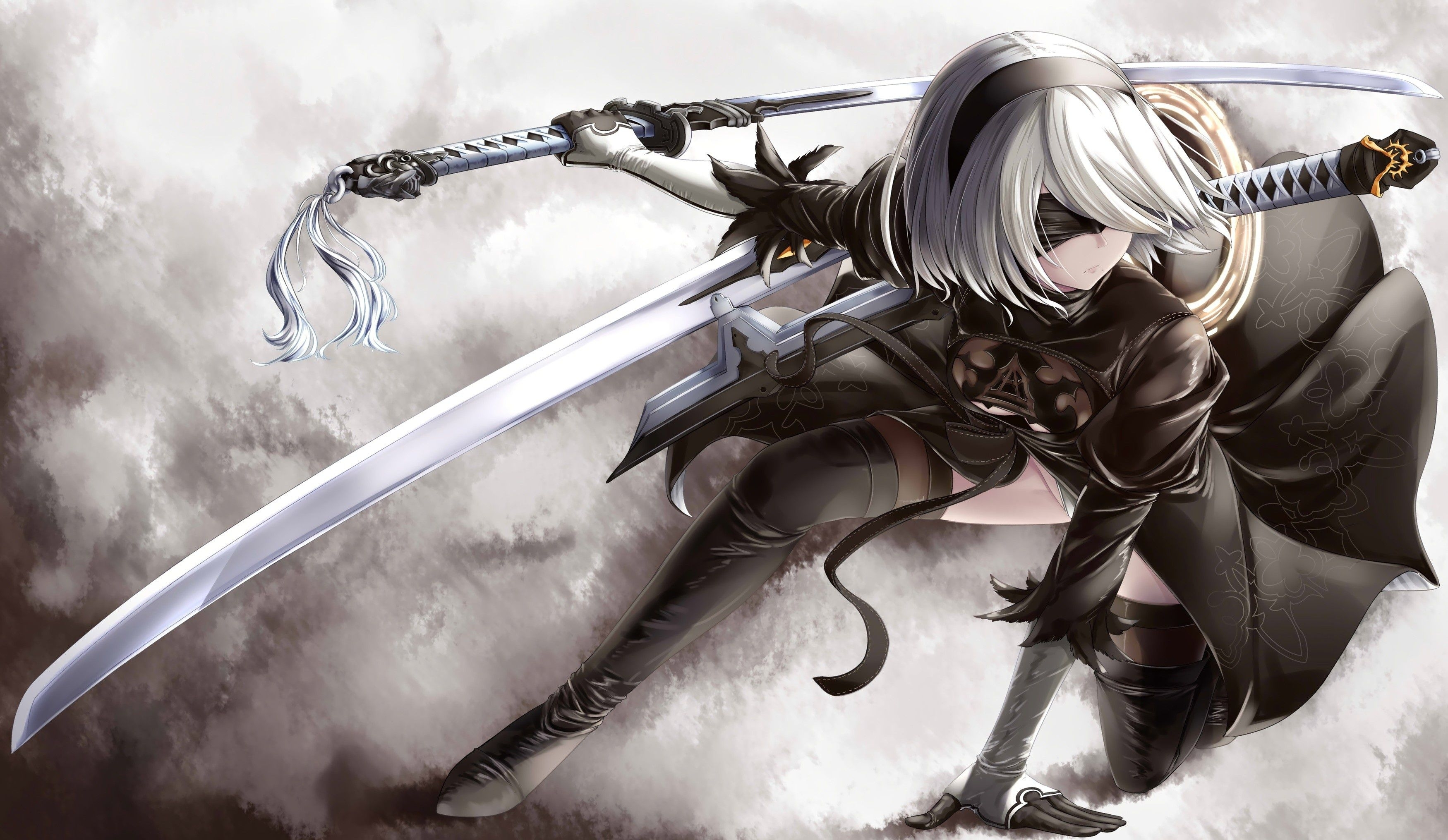 nier: automata wallpaper - wallpaper abyss | illustrations | pinterest