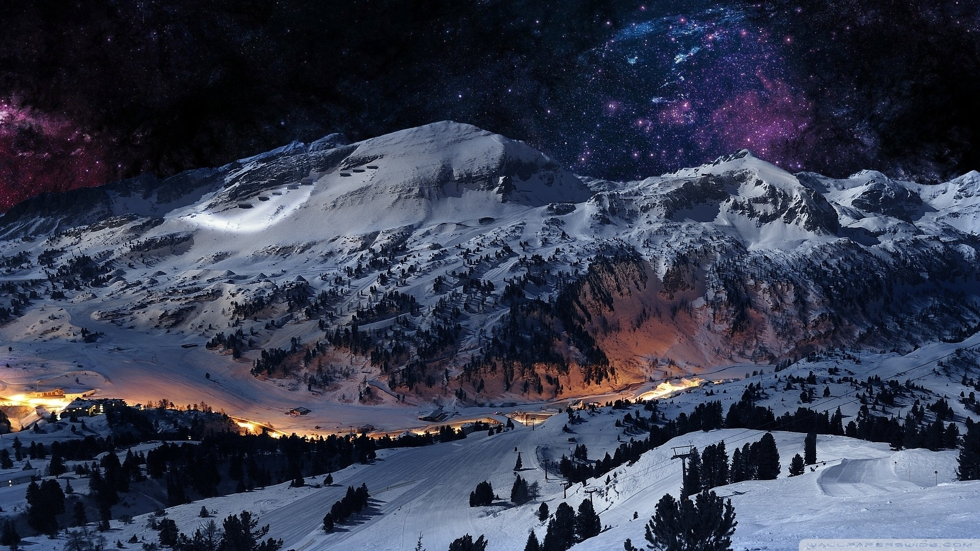 10 New Snow Mountains Wallpaper Night FULL HD 1920×1080 For PC Desktop
