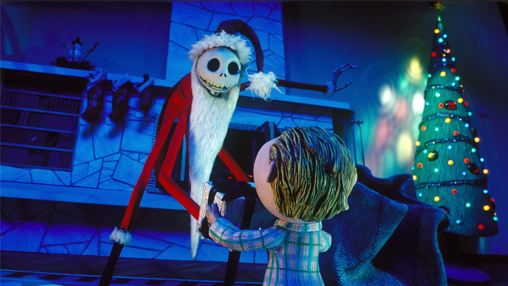 nightmare before christmas jack santa wallpaper images & pictures