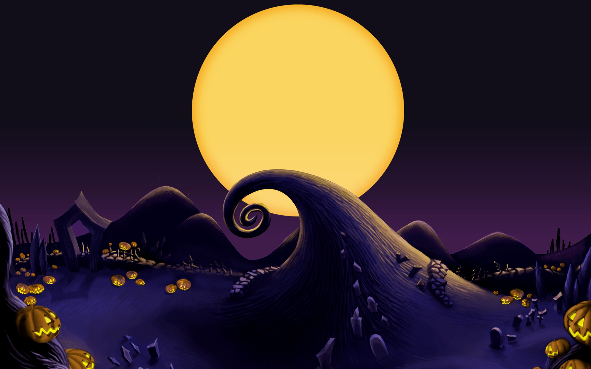 10 New Nightmare Before Christmas Screensavers FULL HD 1080p For PC Desktop