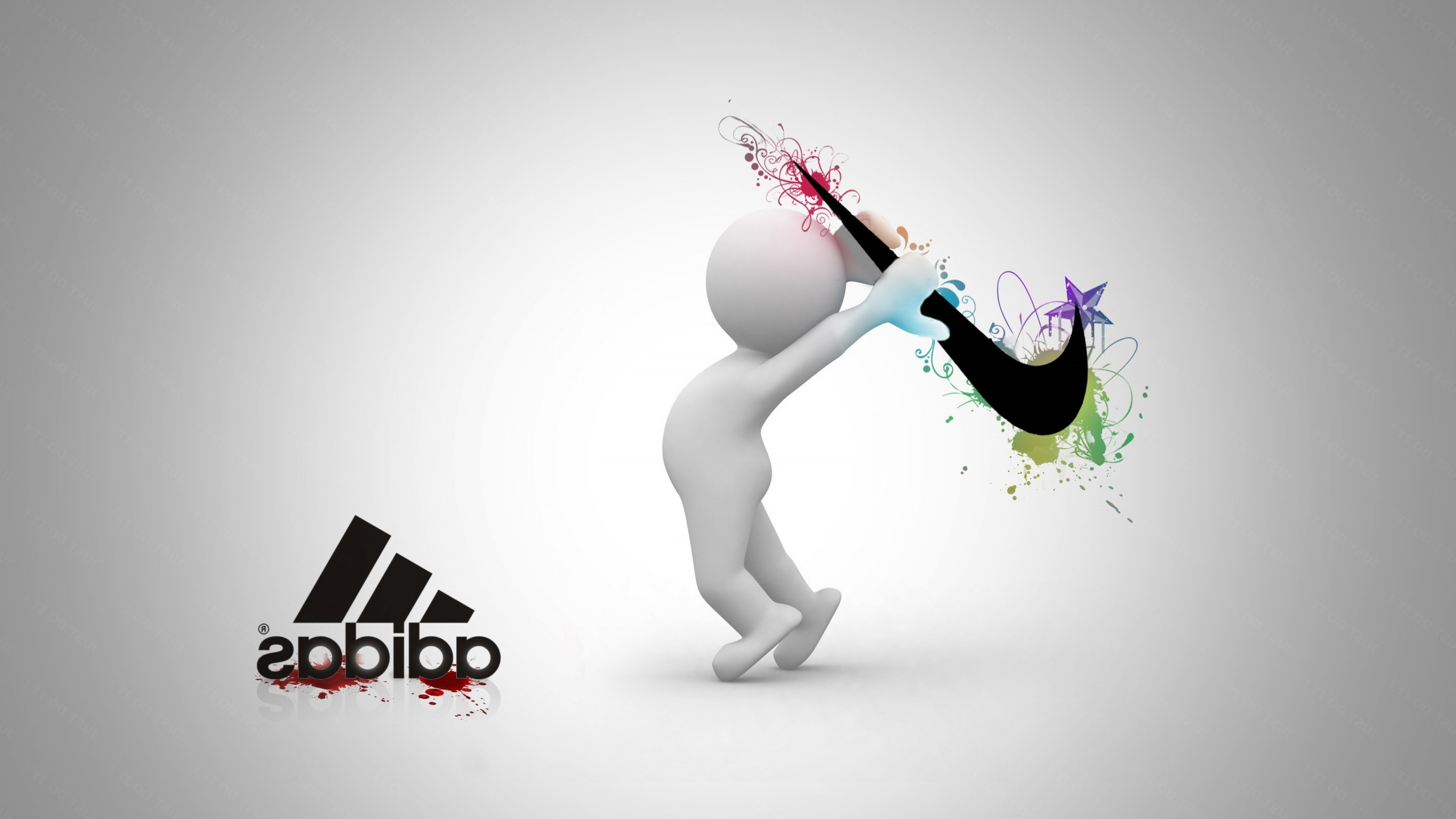 nike vs adidas, hd logo, 4k wallpapers, images, backgrounds, photos