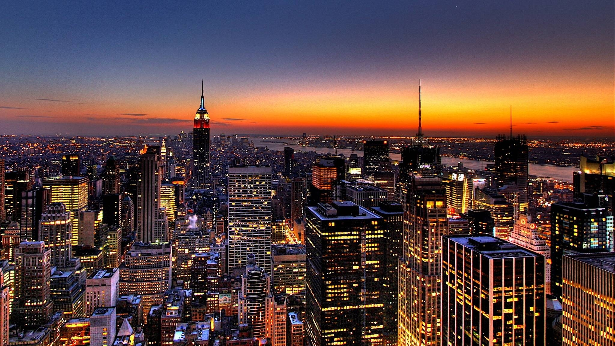 10 Best New York Night Wallpaper FULL HD 1920×1080 For PC Background