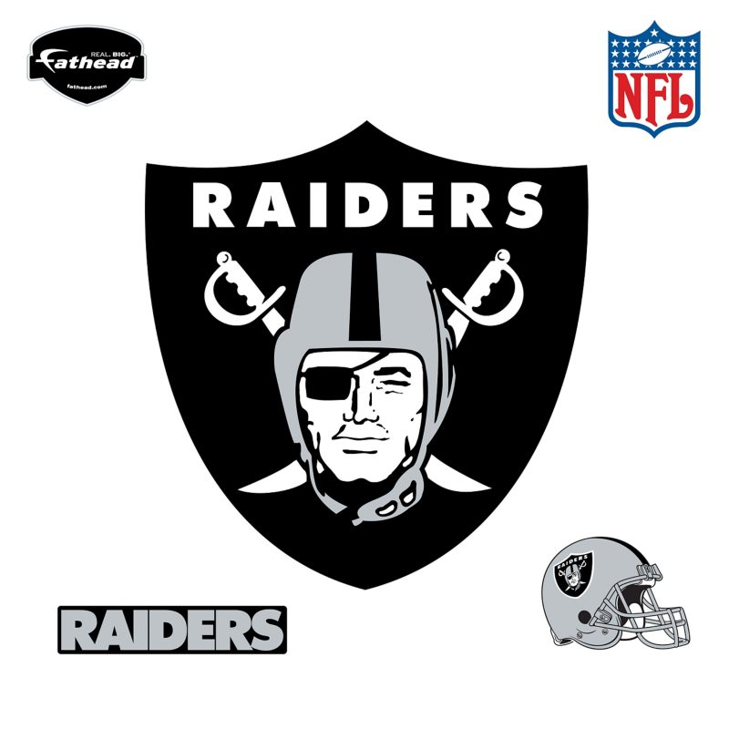 10 Latest Oakland Raiders Logo Pics FULL HD 1920×1080 For PC Desktop 2018 free download oakland raiders logo wall decal shop fathead for oakland raiders 1 800x800