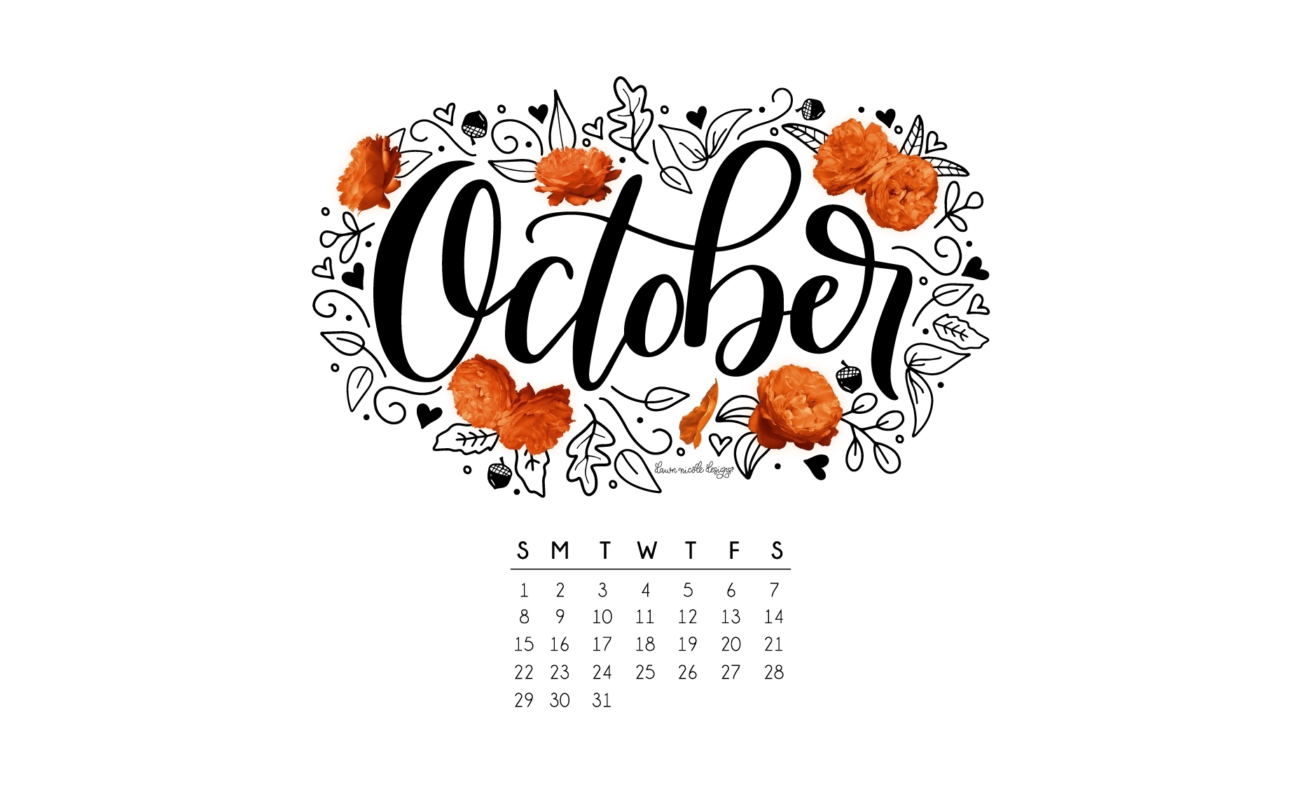 october 2017 printable calendar + tech pretties   dawn nicole designs®