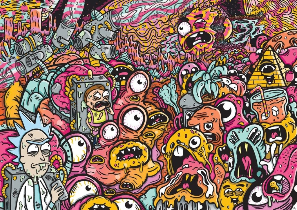 10 Best Trippy Rick And Morty Wallpaper FULL HD 1080p For PC Desktop 2020 free download oh jeez rick rick and morty tributesamuelbthorne on deviantart 1024x724