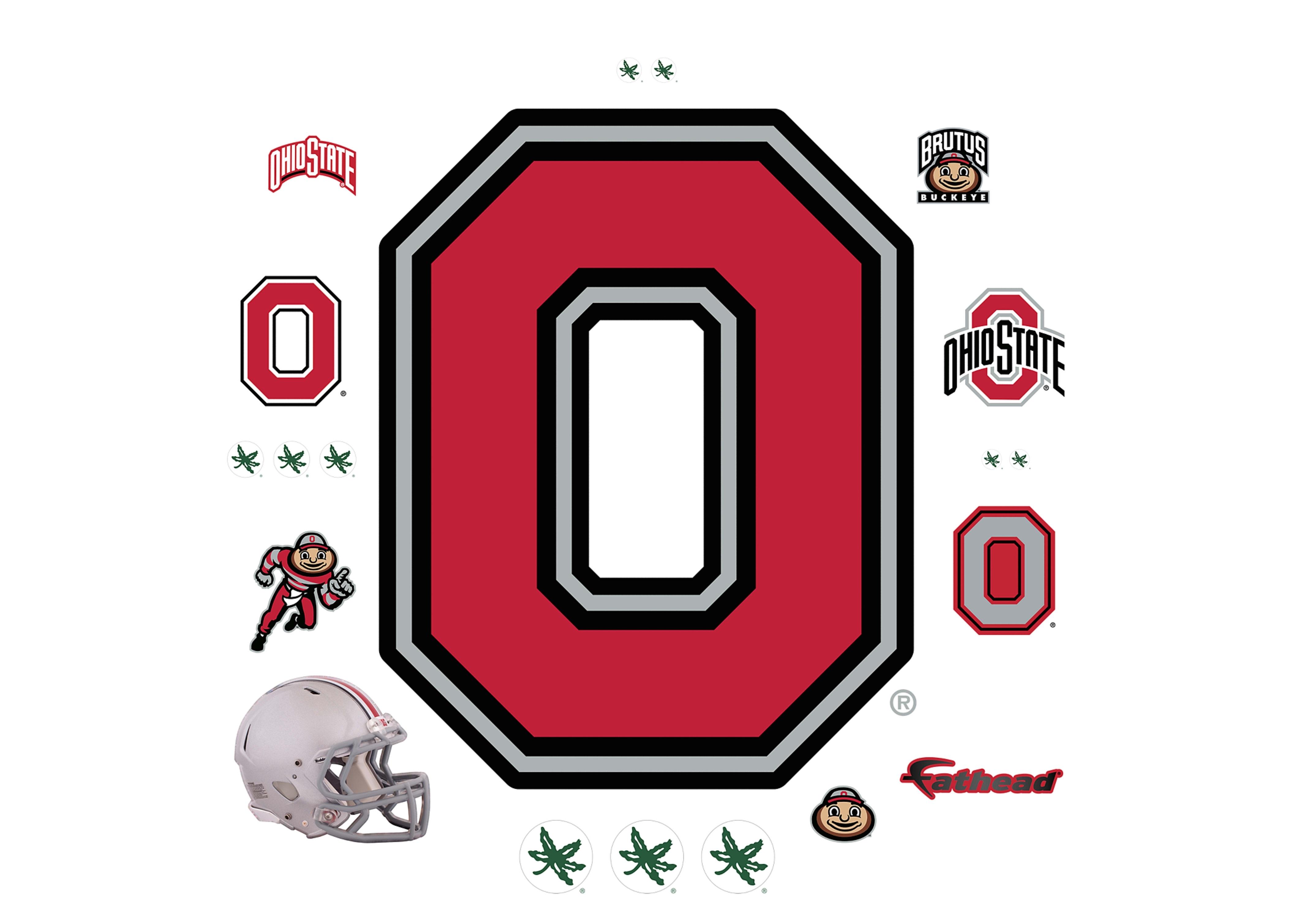 ohio state buckeyes block o logo wall decal | shop fathead® for ohio