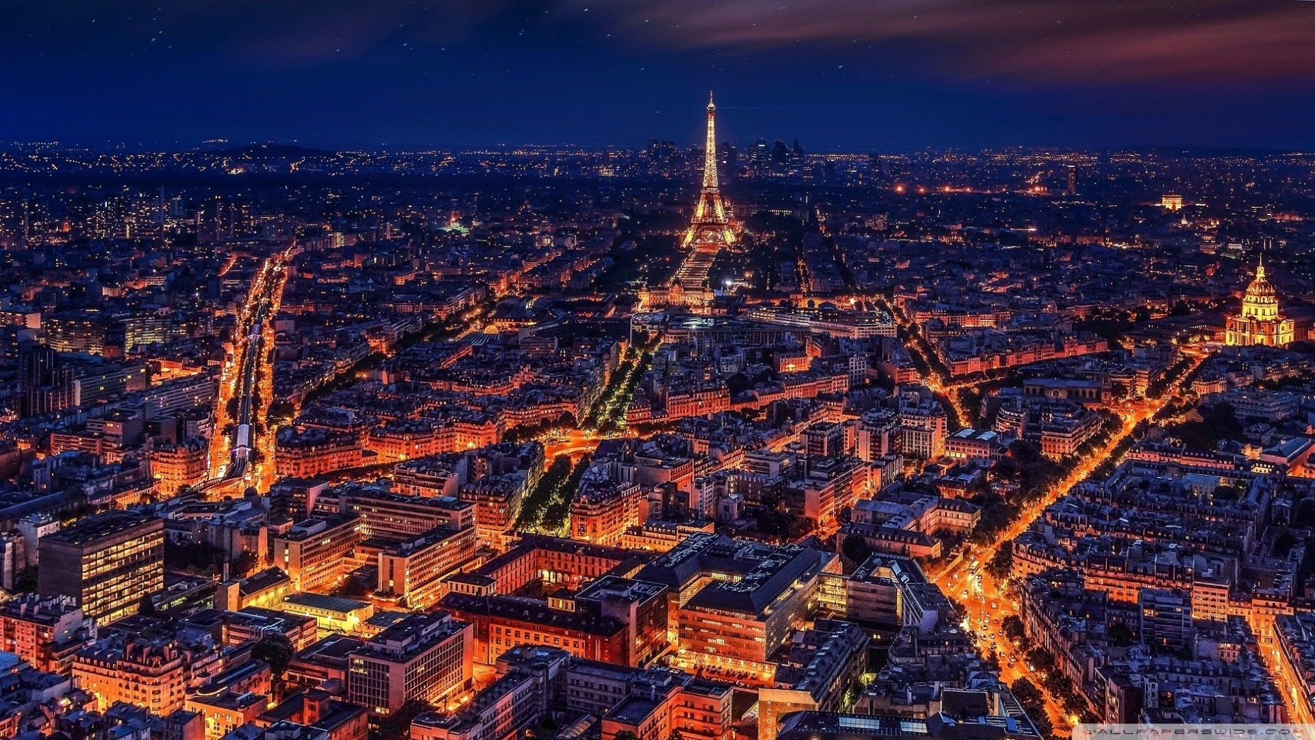 paris at night ❤ 4k hd desktop wallpaper for 4k ultra hd tv • wide