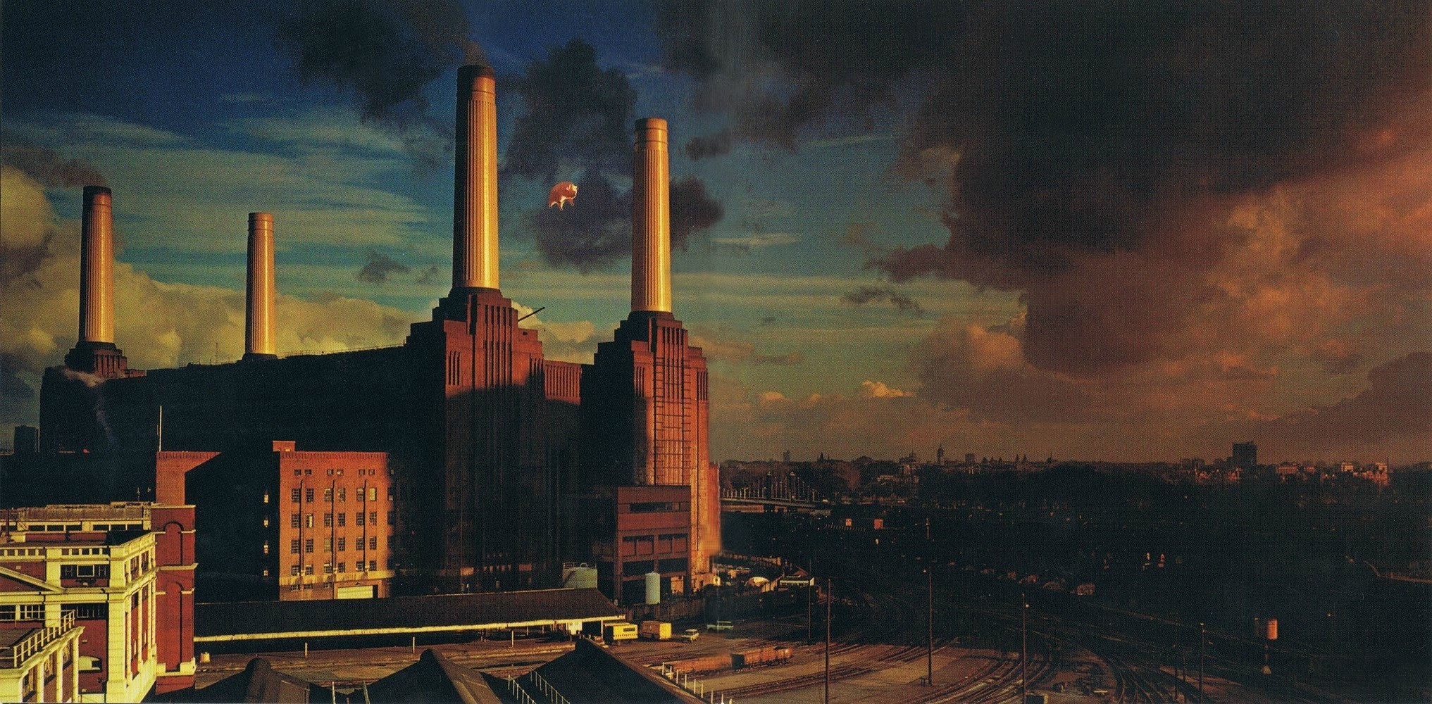 pink floyd, animals, london, pigs, album covers wallpapers hd