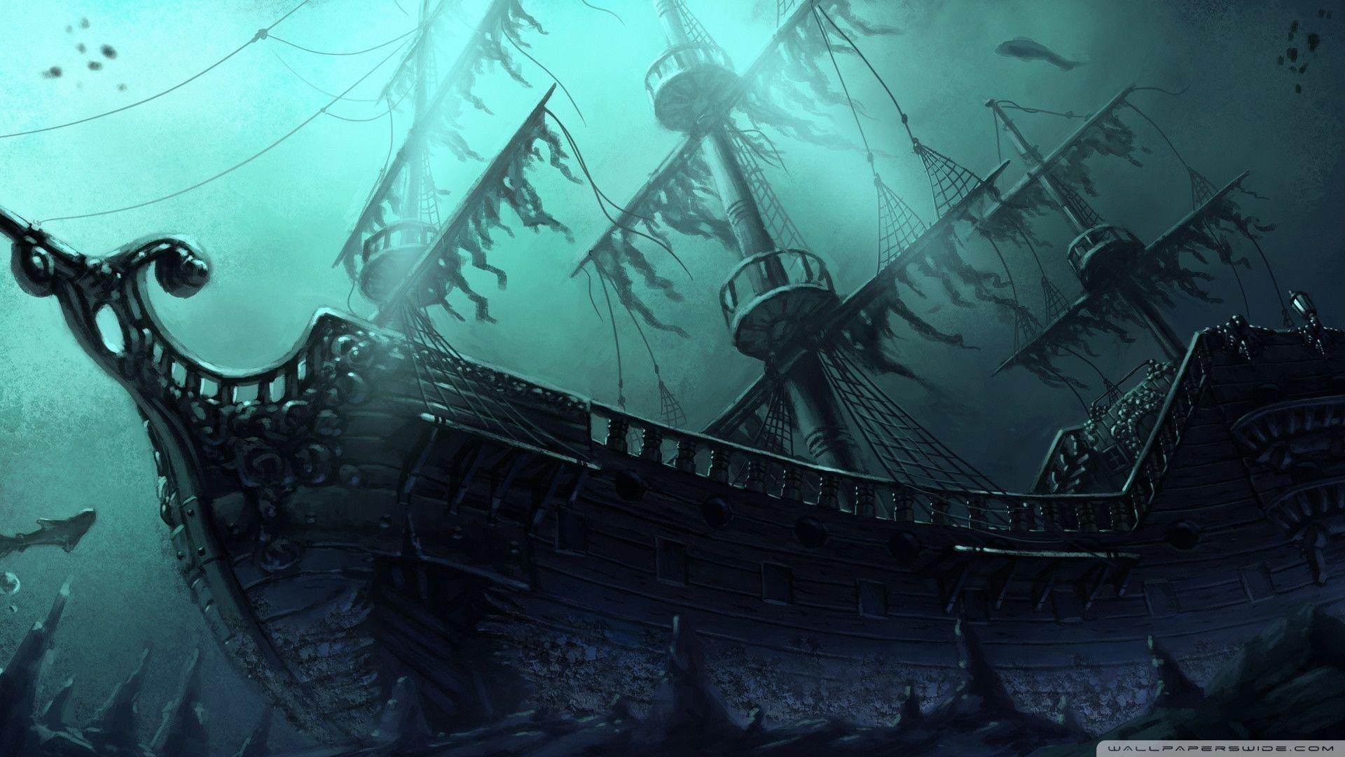 10 Latest Ghost Pirate Ship Wallpaper FULL HD 1920×1080 ...