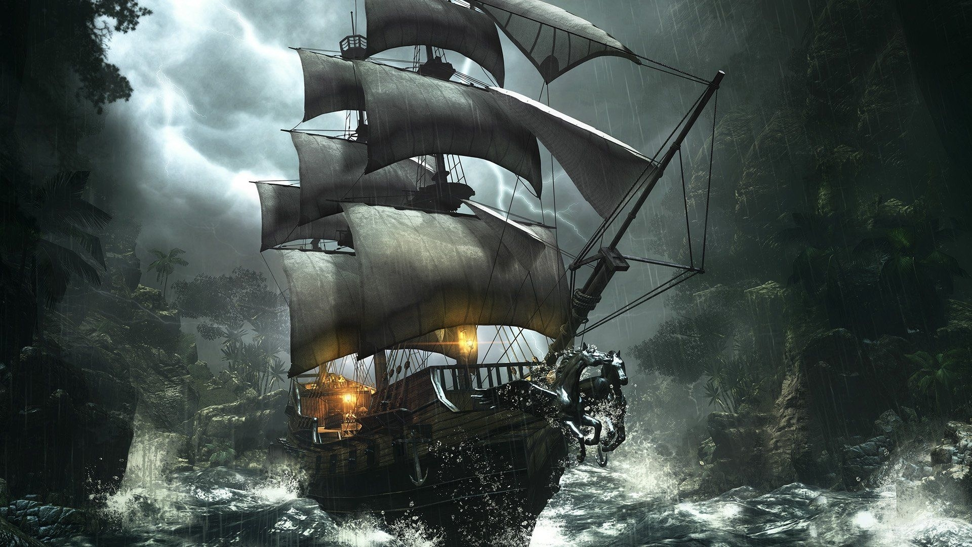 pirate ship wallpaper high definition #02c20 1920x1080 px 420.15 kb