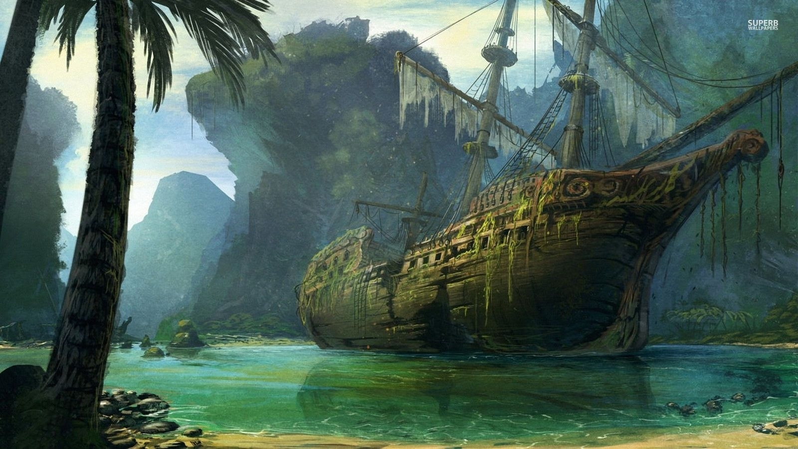 pirate ship screensaver www