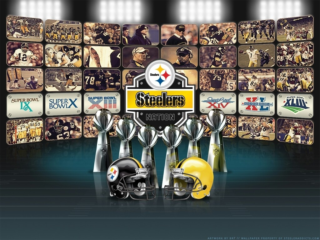 pittsburgh steelers, 6 time champs media collage   super bowl