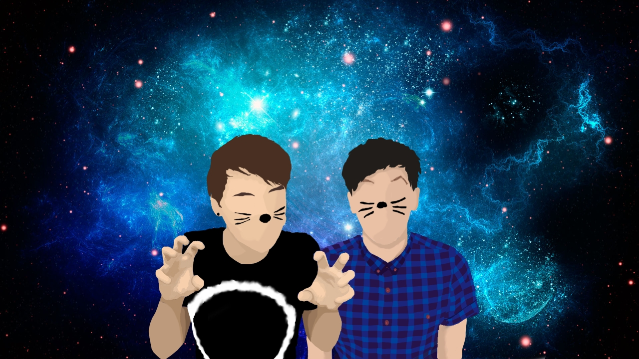 plush alien • i made a dan and phil desktop background