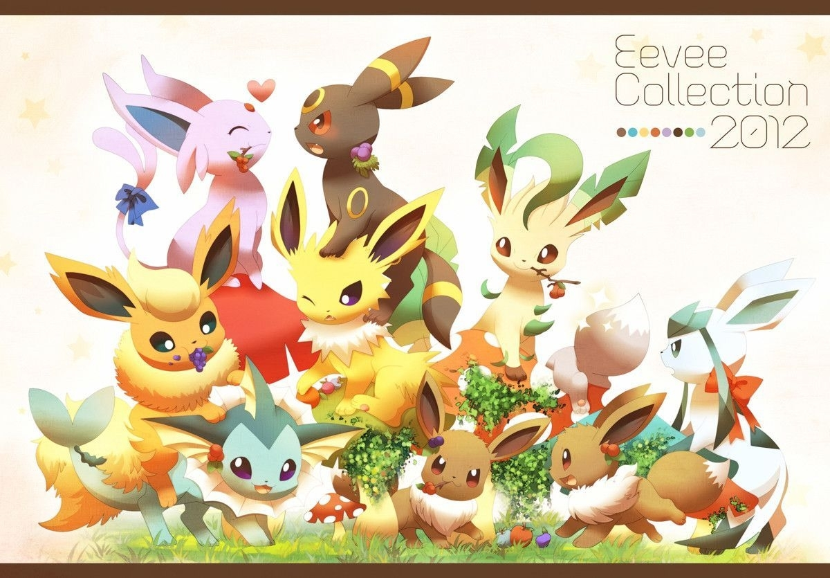 pokemon cute eevee eevee evolutions wallpaper wallpaper panda