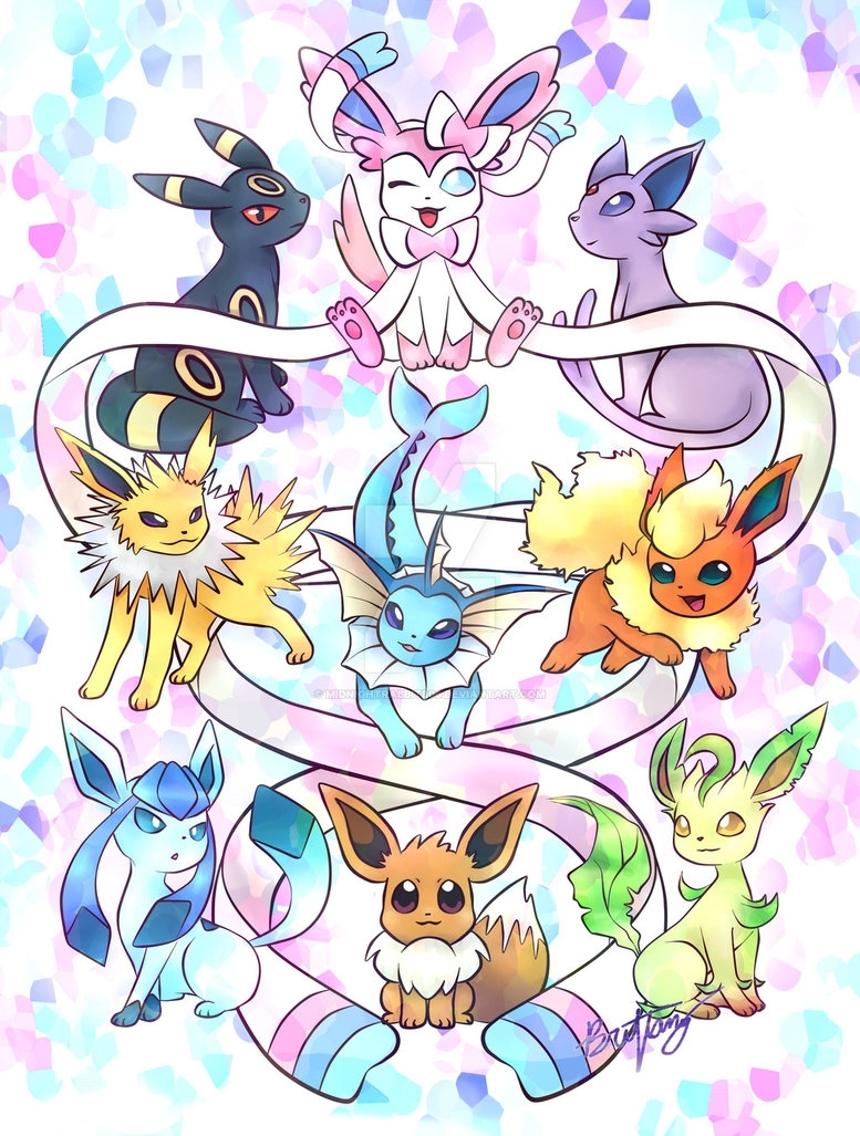 pokemon eevee evolutionmidnightrabbit806 on deviantart