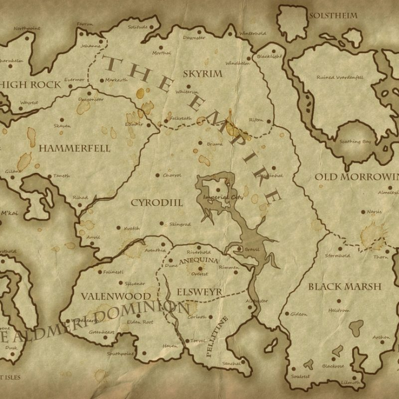 10 New Map Of Tamriel Wallpaper Full Hd 1080p For Pc Background