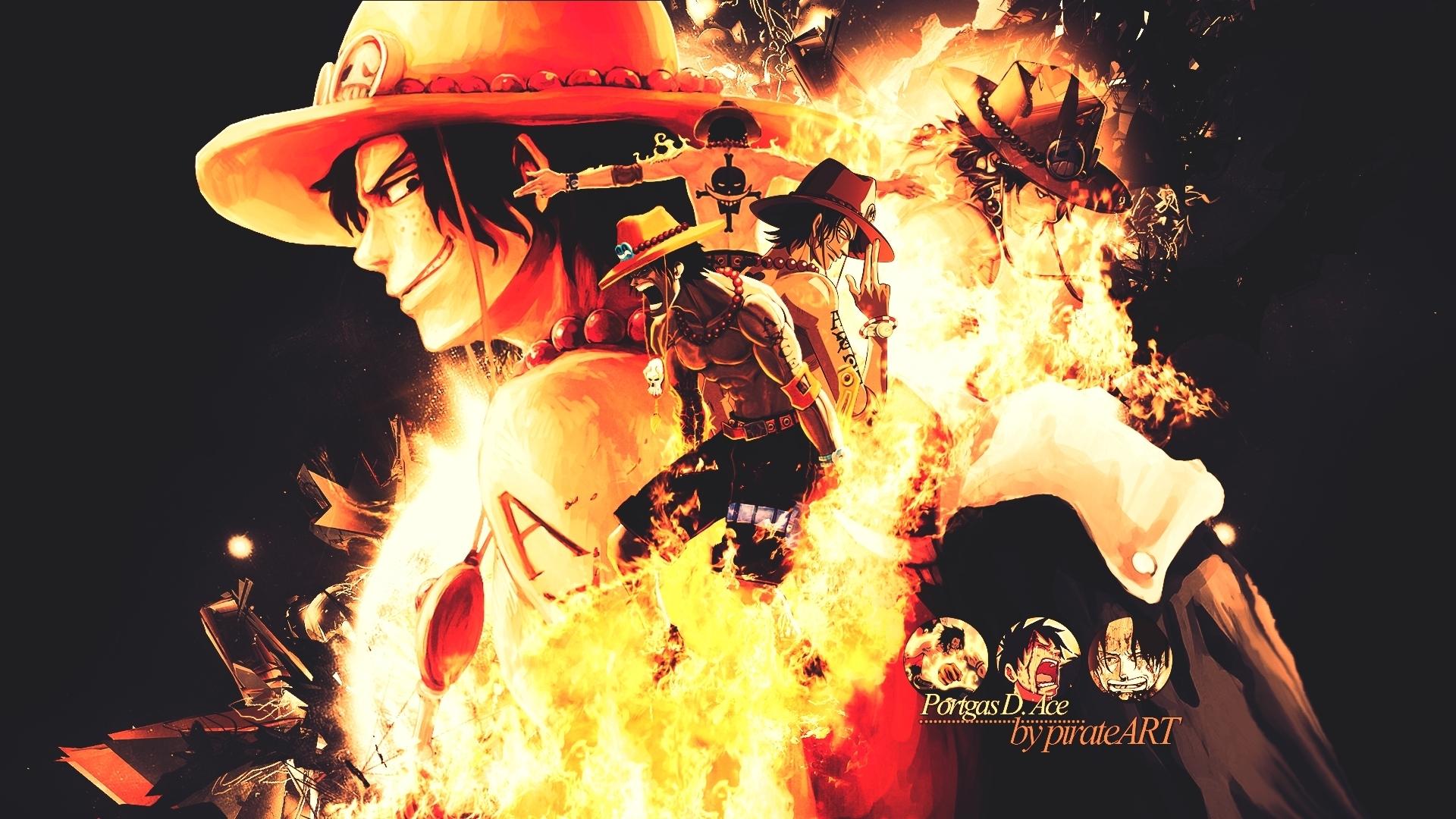 portgas d. ace - one piece - hd wallpaper #1495408 - zerochan anime