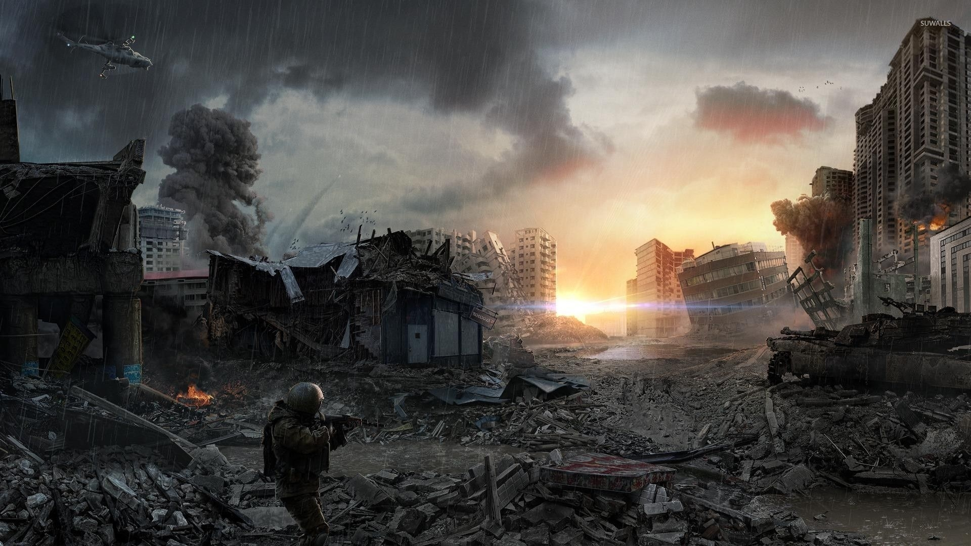 post-apocalyptic city wallpaper - fantasy wallpapers - #28463