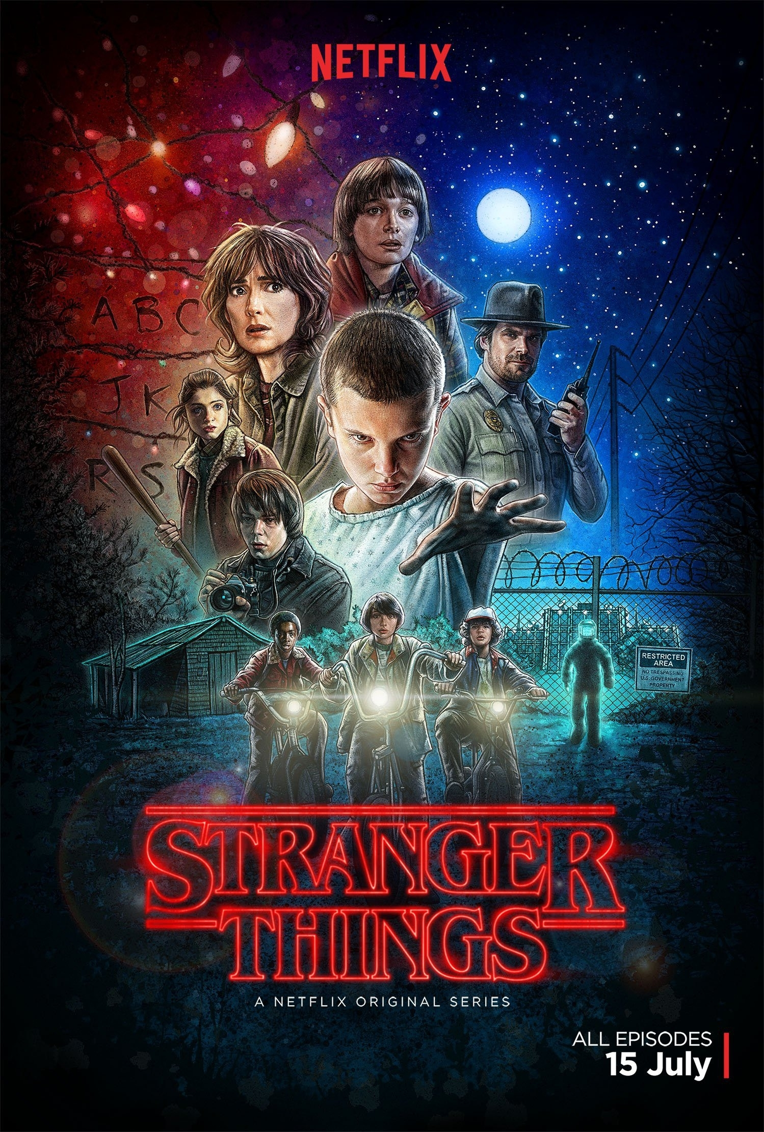 poster : stranger things – saison 1 (old school)
